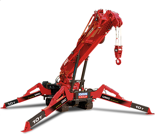 What is too steep of an incline for a Spydercrane?
