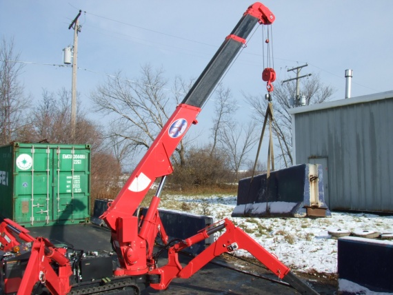 Outdoor workplace safety for mini crawler cranes & glass